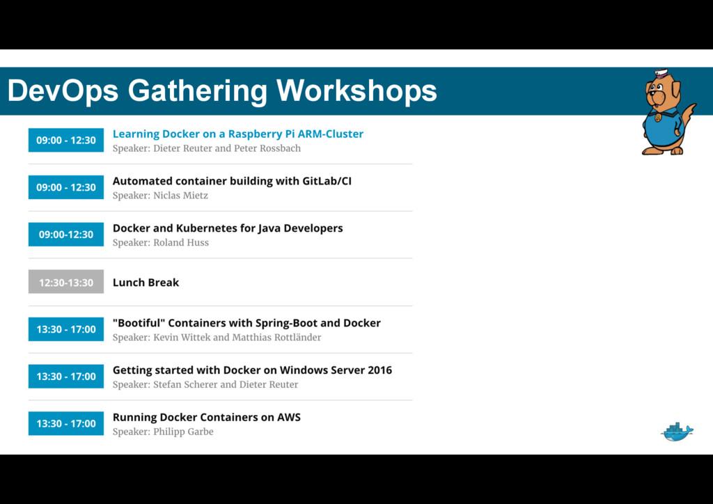 DevOps Gathering Workshops