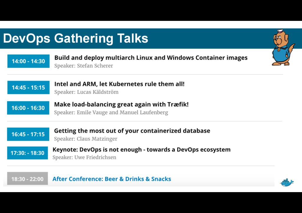 DevOps Gathering Talks