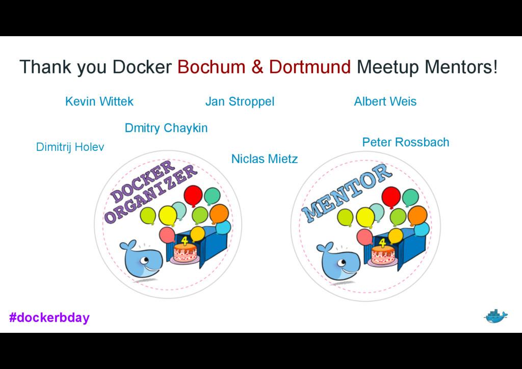 Thank you Docker Bochum & Dortmund Meetup Mento...