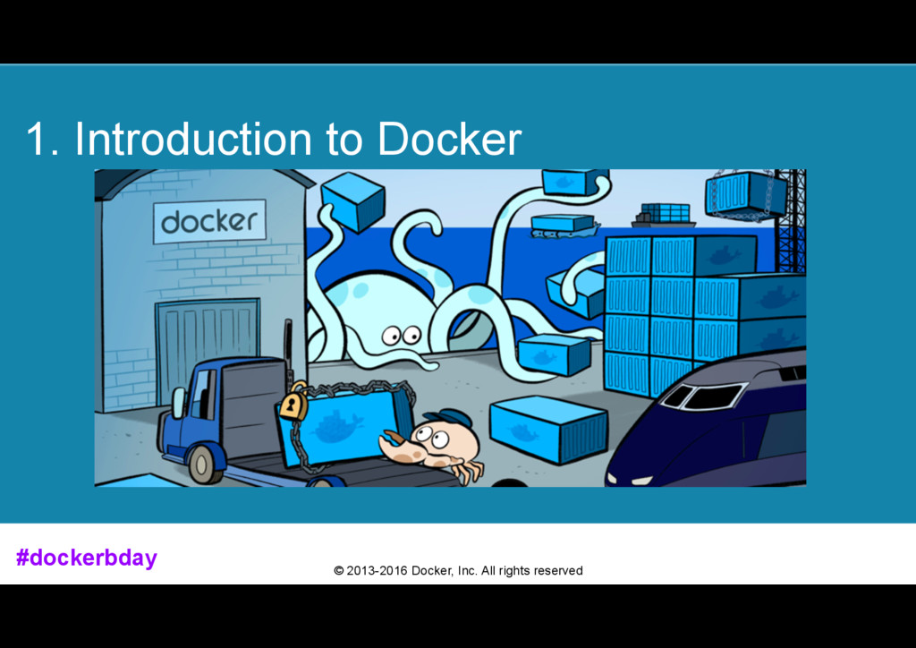 © 2013-2016 Docker, Inc. All rights reserved 1....