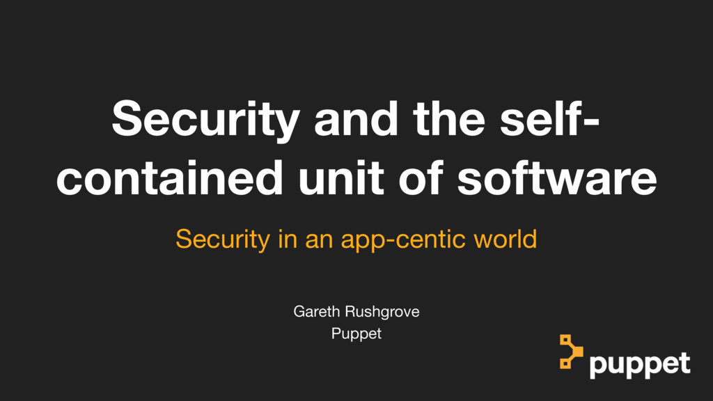 (without introducing more risk) Security and th...