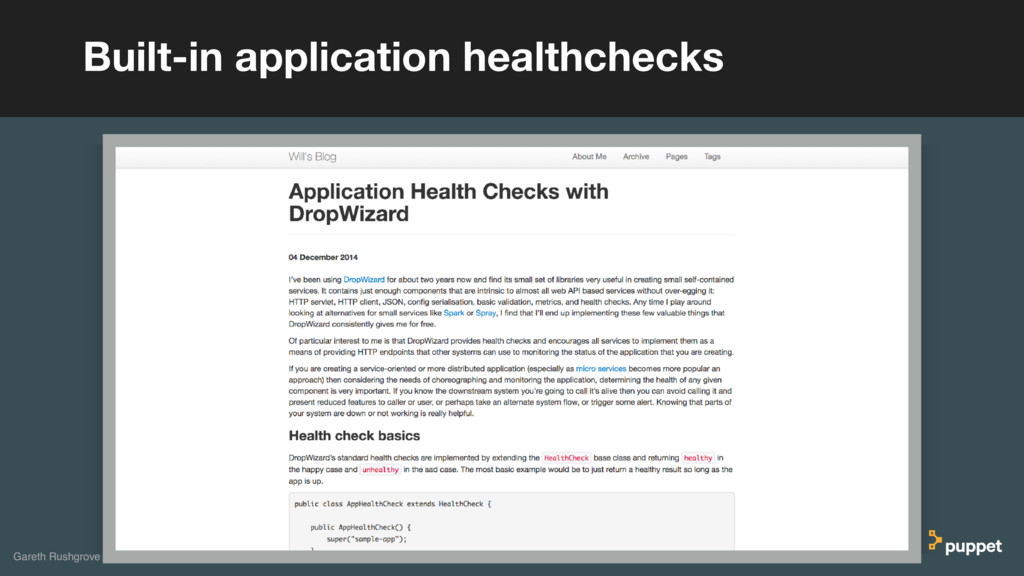 Built-in application healthchecks Gareth Rushgr...