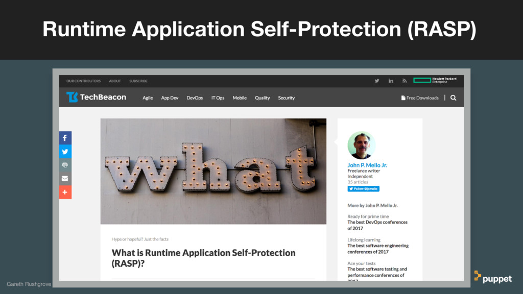Runtime Application Self-Protection (RASP) Gare...