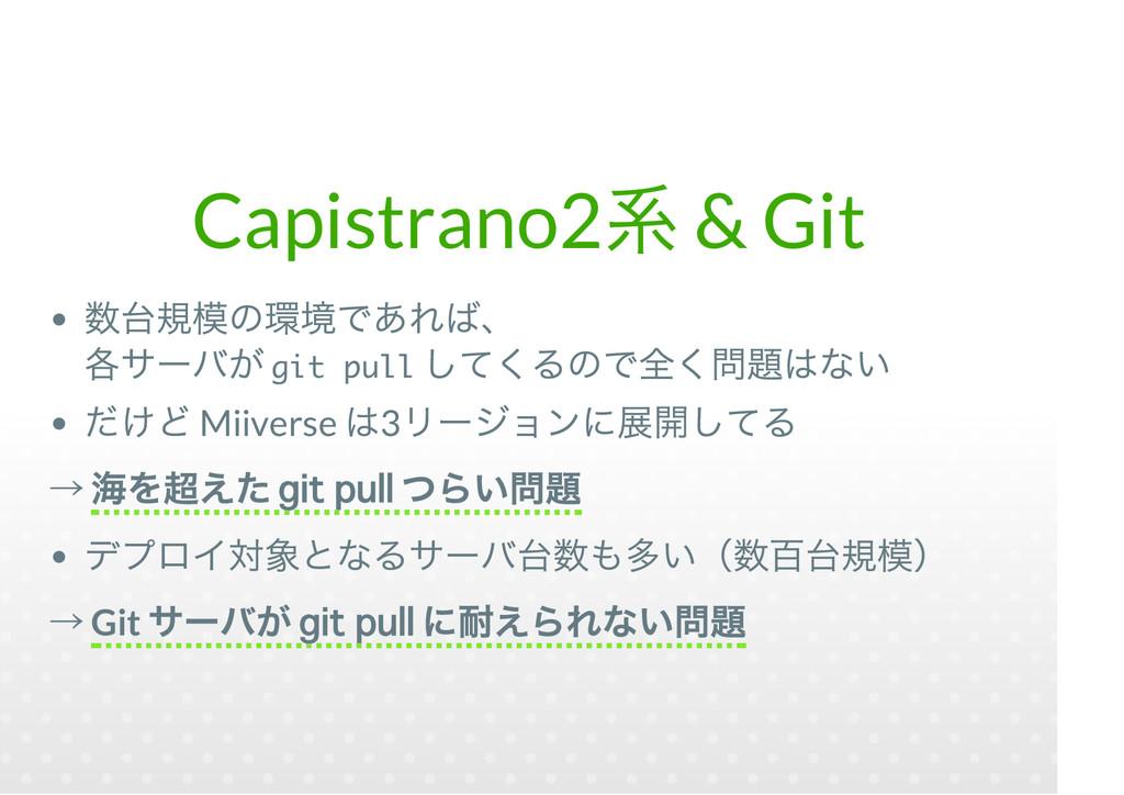 Capistrano2 & Git git pull Miiverse 3 git pull ...