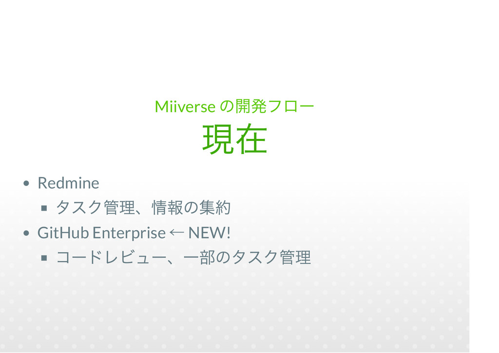 Miiverse Redmine GitHub Enterprise NEW!