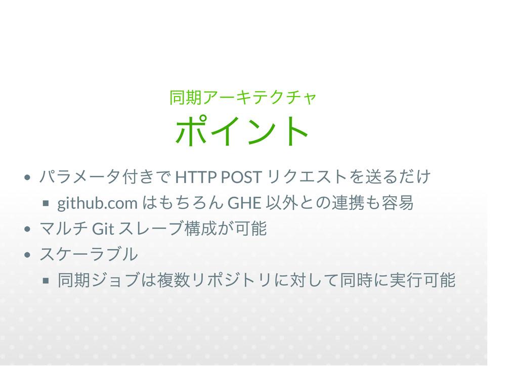 HTTP POST github.com GHE Git