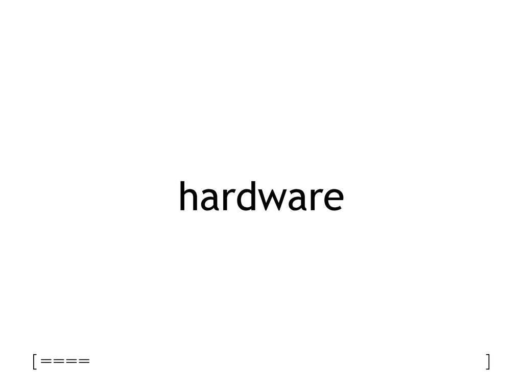 hardware [==== ]