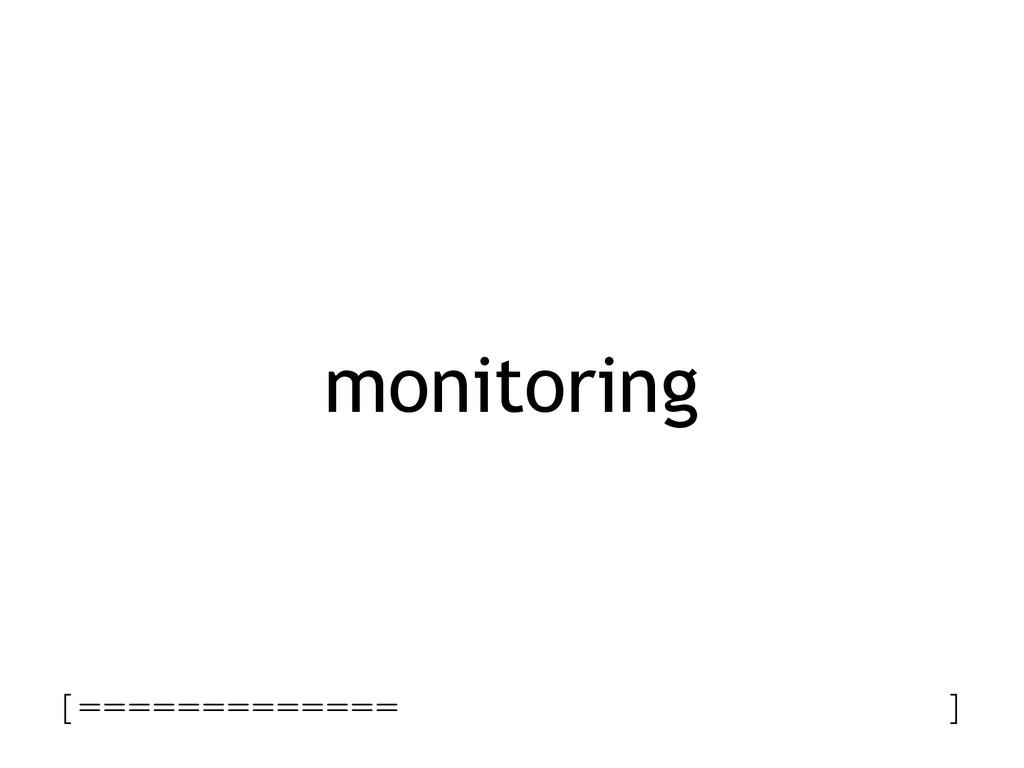 monitoring [============= ]