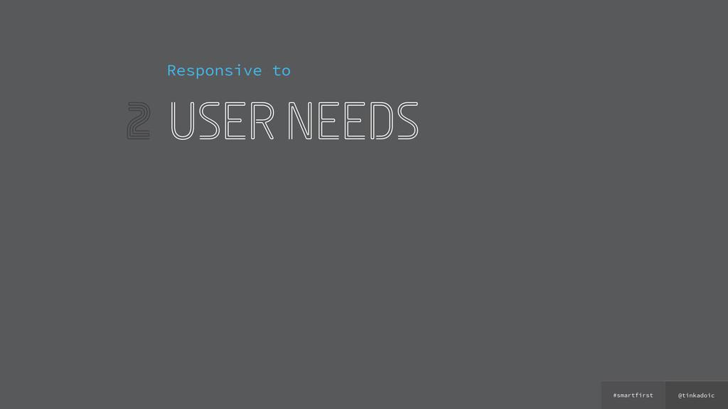 @tinkadoic #smartfirst 2 Responsive to user nee...
