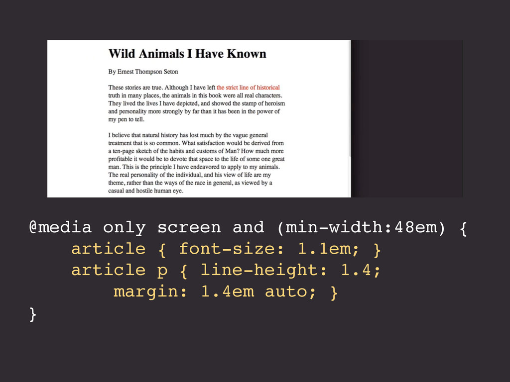 @media only screen and (min-width:48em) { artic...