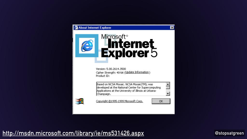 @stopsatgreen http://msdn.microsoft.com/library...