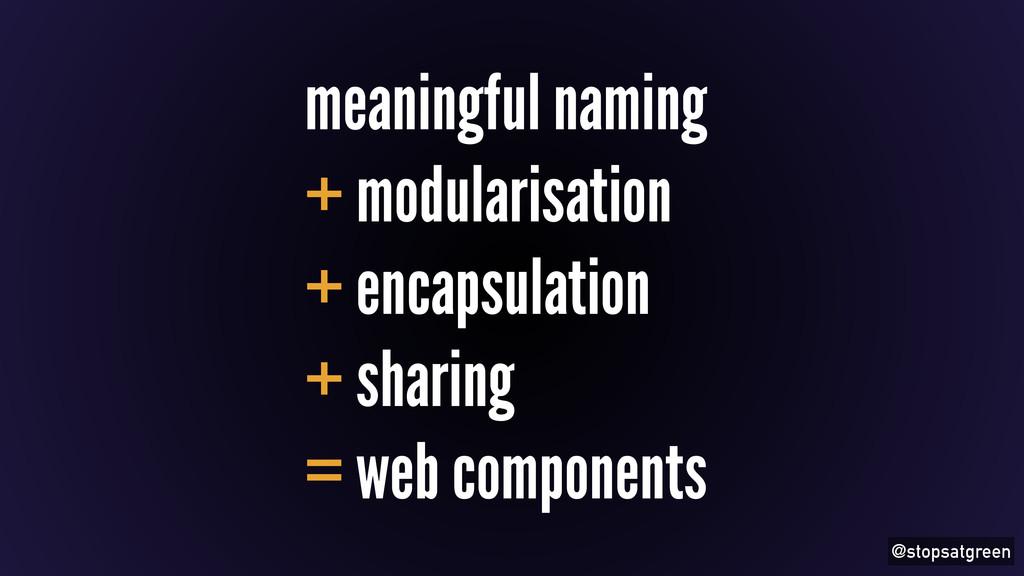 @stopsatgreen meaningful naming + modularisatio...