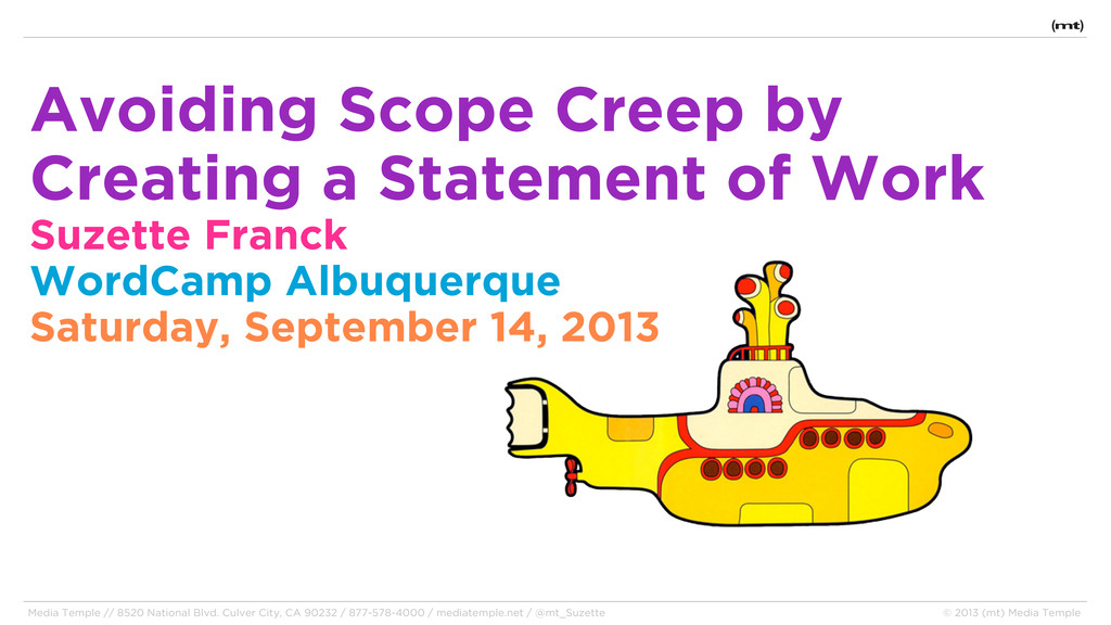 Avoiding Scope Creep by Creating a Statement of...
