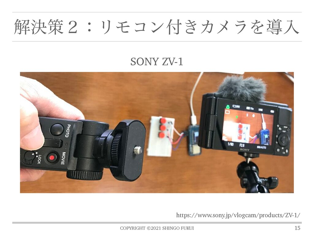 COPYRIGHT ©2021 SHINGO FUKUI ղܾࡦ̎ɿϦϞίϯ͖ΧϝϥΛಋೖ ...