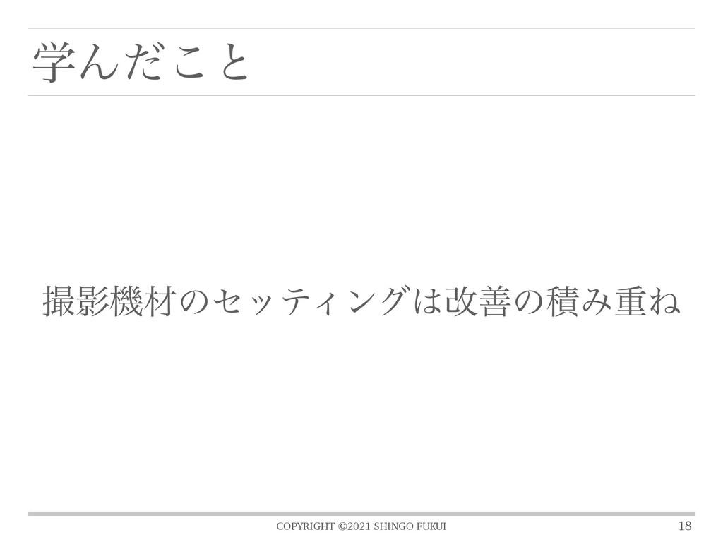 COPYRIGHT ©2021 SHINGO FUKUI ֶΜͩ͜ͱ 18 ӨػࡐͷηοςΟ...
