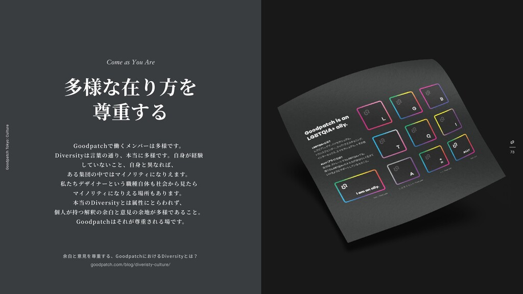 Goodpatch Tokyo: Culture 73 創造⼒を ⽣み出す余⽩ Give Sp...