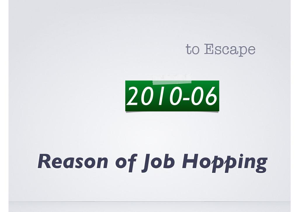 The Art of Job Hopping Reason of Job Hopping to...