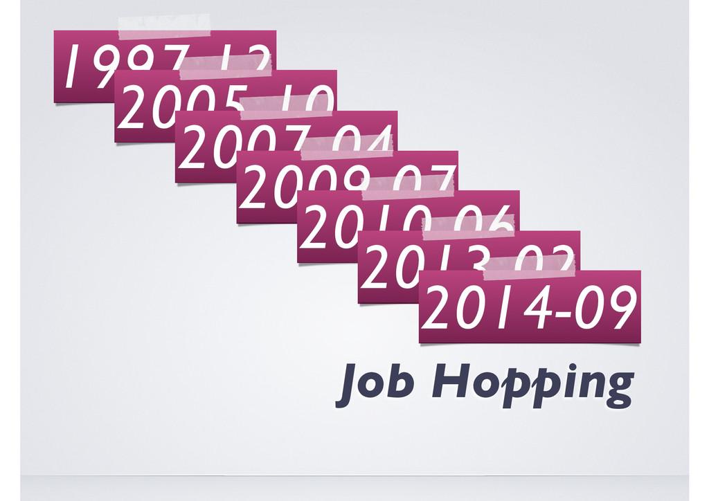 The Art of Job Hopping 1997-12 2005-10 2007-04 ...
