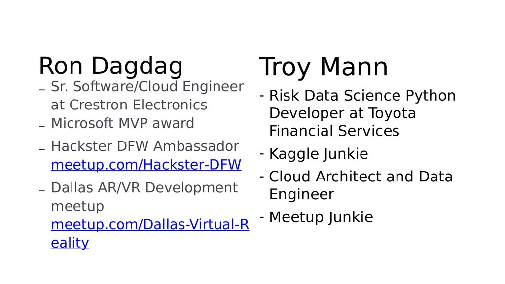 Ron Dagdag – Sr. Software/Cloud Engineer at Cre...