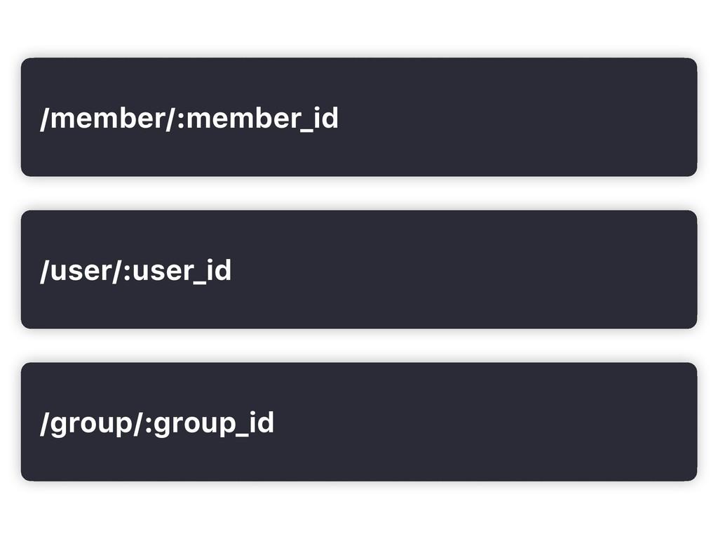 /user/:user_id /group/:group_id /member/:member...