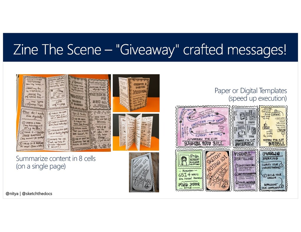 @SketchTheDocs @nitya Summarize content in 8 ce...