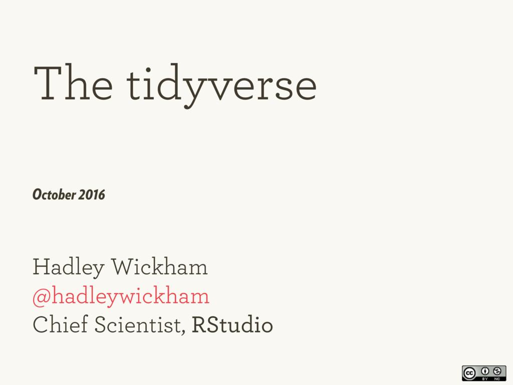 Hadley Wickham  @hadleywickham Chief Scientis...