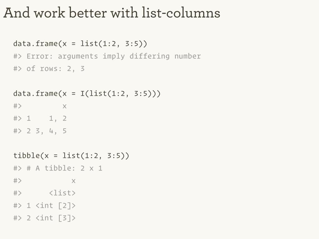 data.frame(x = list(1:2, 3:5)) #> Error: argume...
