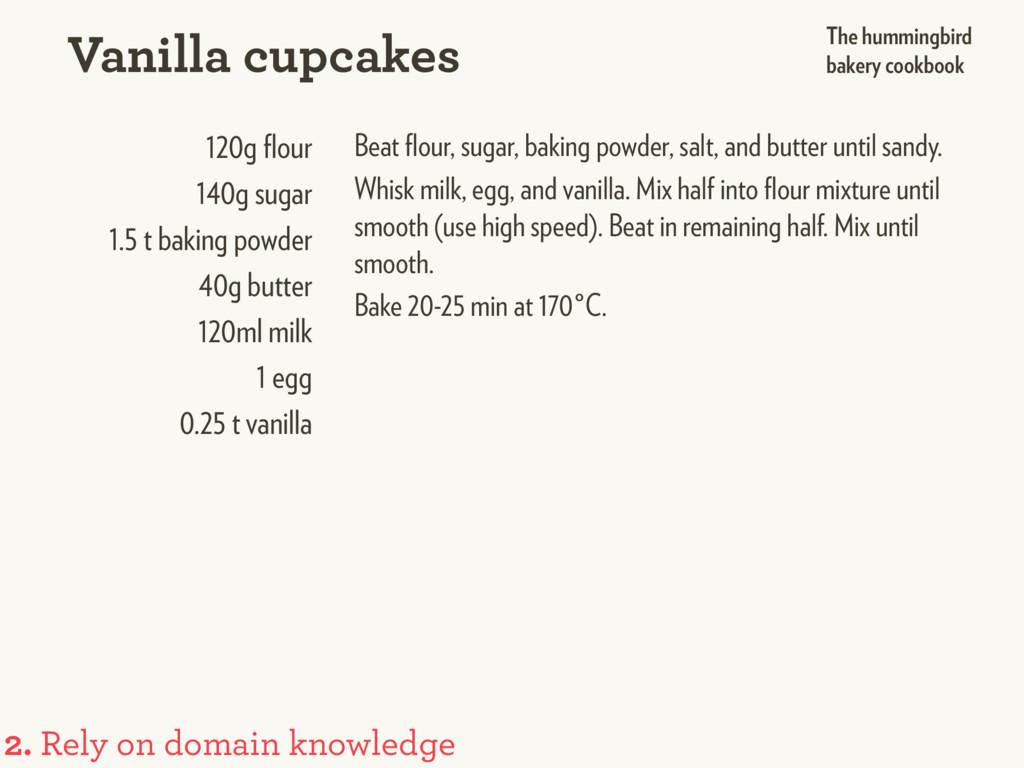 120g flour 140g sugar 1.5 t baking powder 40g bu...