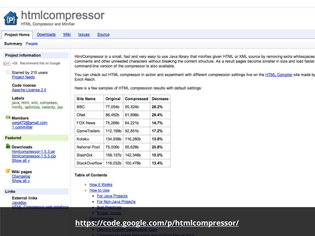 https://code.google.com/p/htmlcompressor/