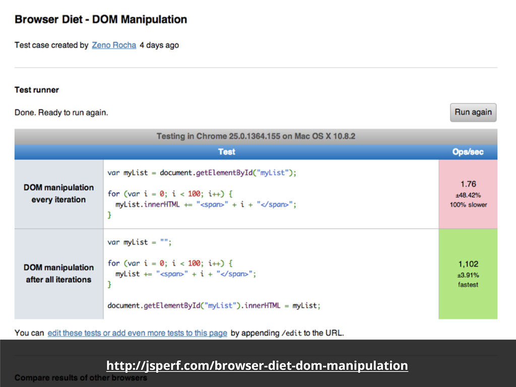 http://jsperf.com/browser-diet-dom-manipulation