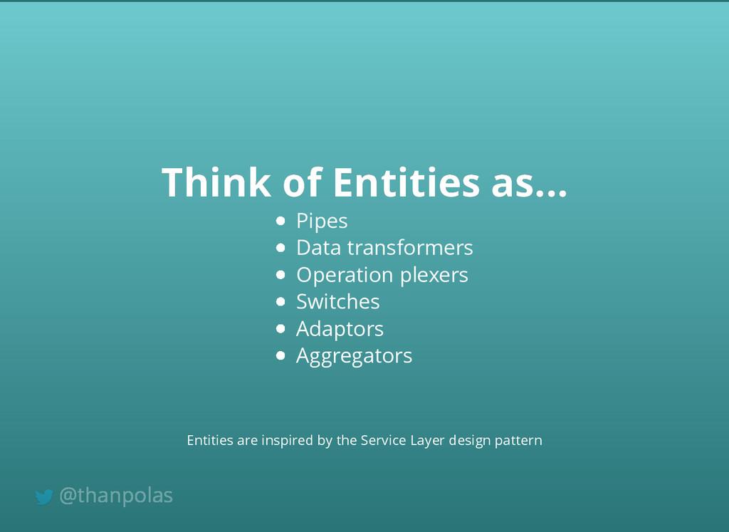 Think of Entities as... Think of Entities as......
