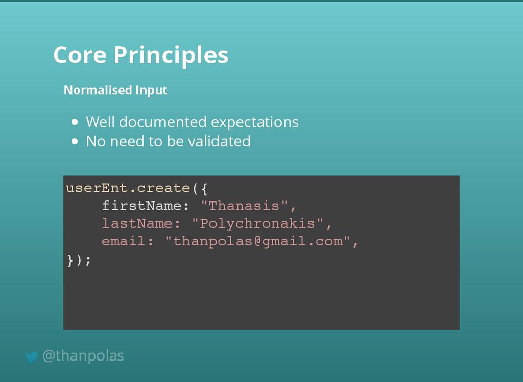 Core Principles Core Principles Normalised Inpu...