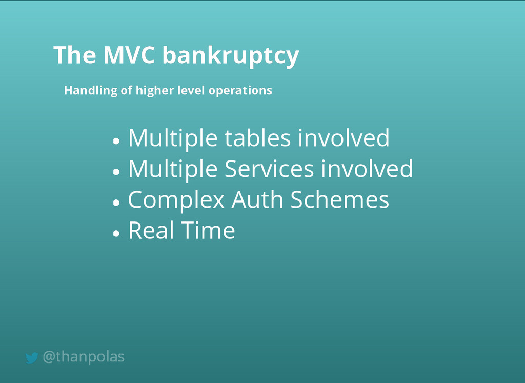 Multiple tables involved Multiple Services invo...