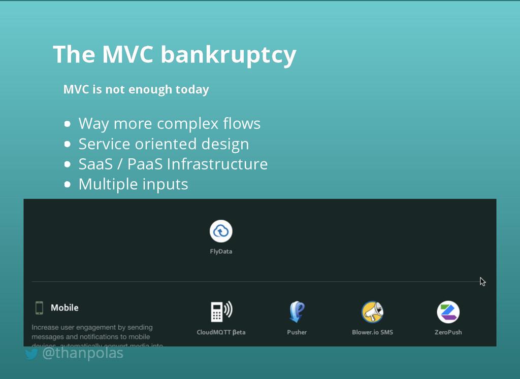 Way more complex flows Service oriented design S...