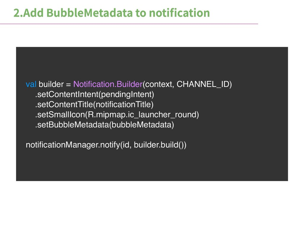 val builder = Notification.Builder(context, CHAN...