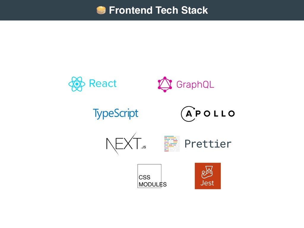 """"""" Frontend Tech Stack"""