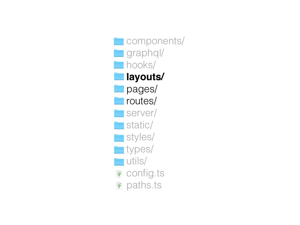 components/ graphql/ hooks/ layouts/ pages/ rou...