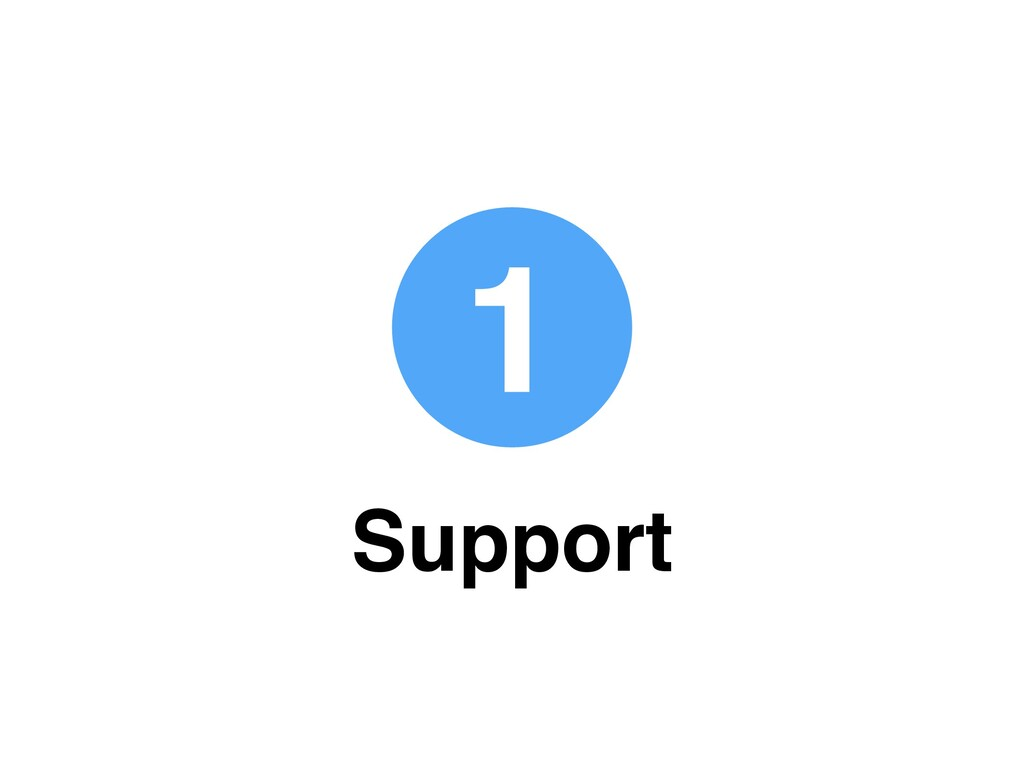 1 Support