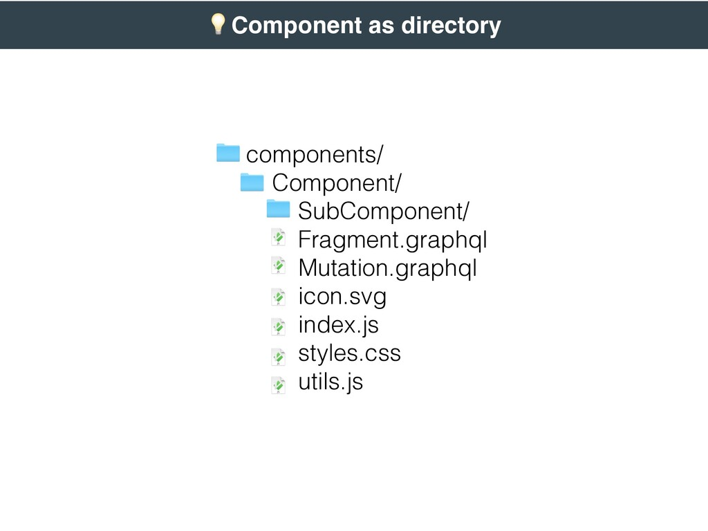 ( Component as directory components/ Component/...