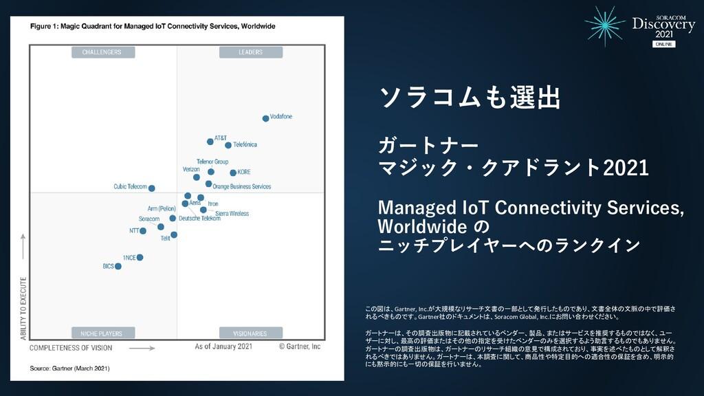 ソラコムも選出 ガートナー マジック・クアドラント2021 Managed IoT Conne...