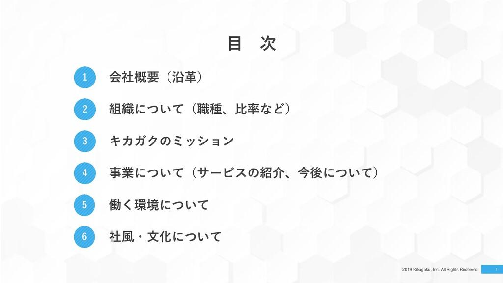 2019 Kikagaku, Inc. All Rights Reserved 1 1 会社概...