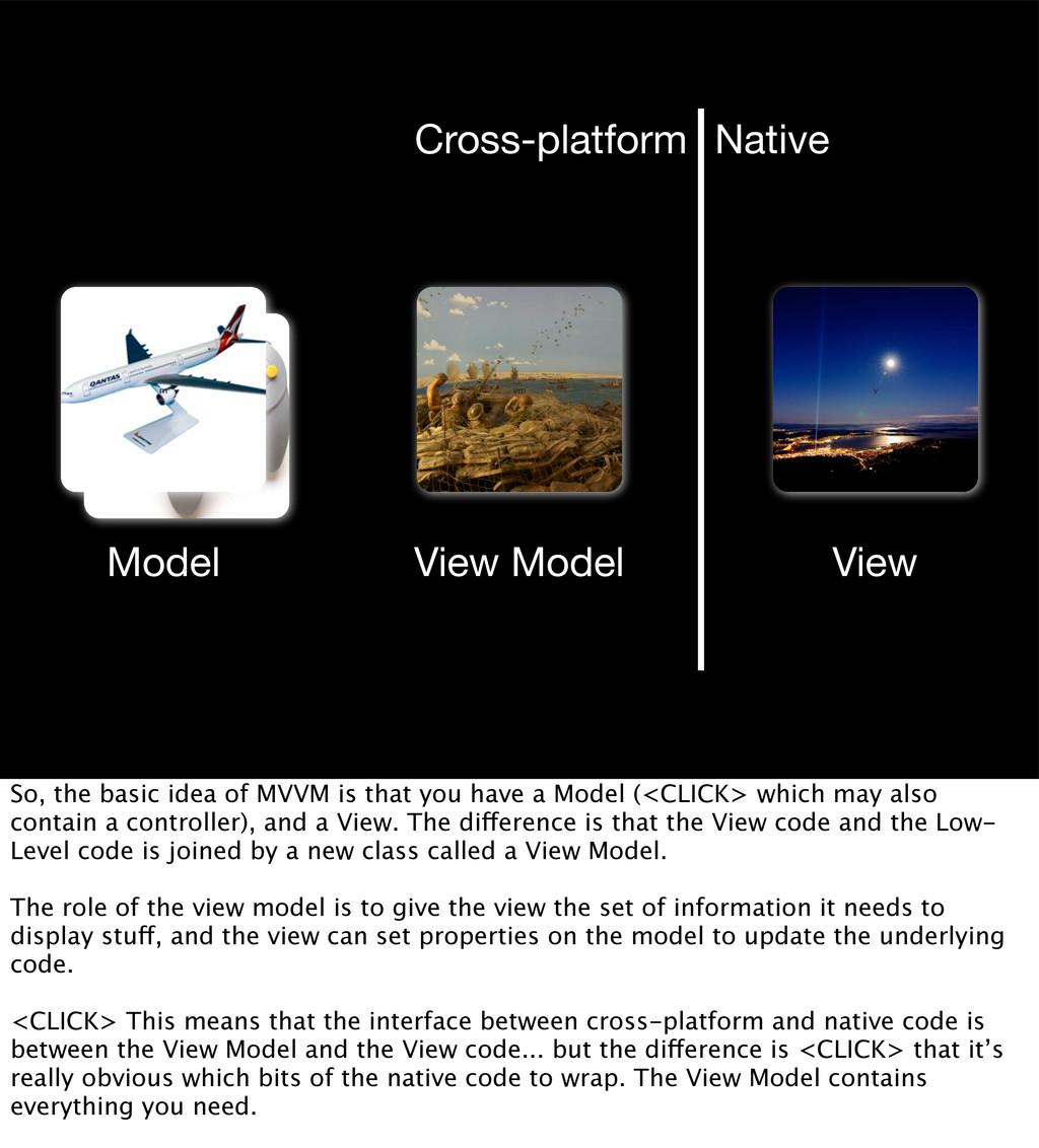 c m vm v Model View View Model Cross-platform N...