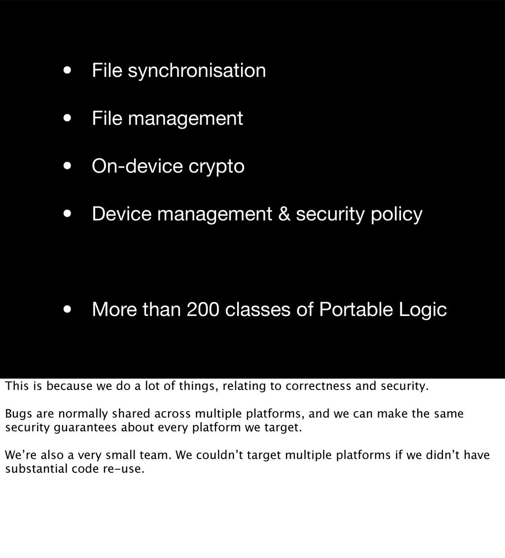 • File synchronisation • File management • On-d...