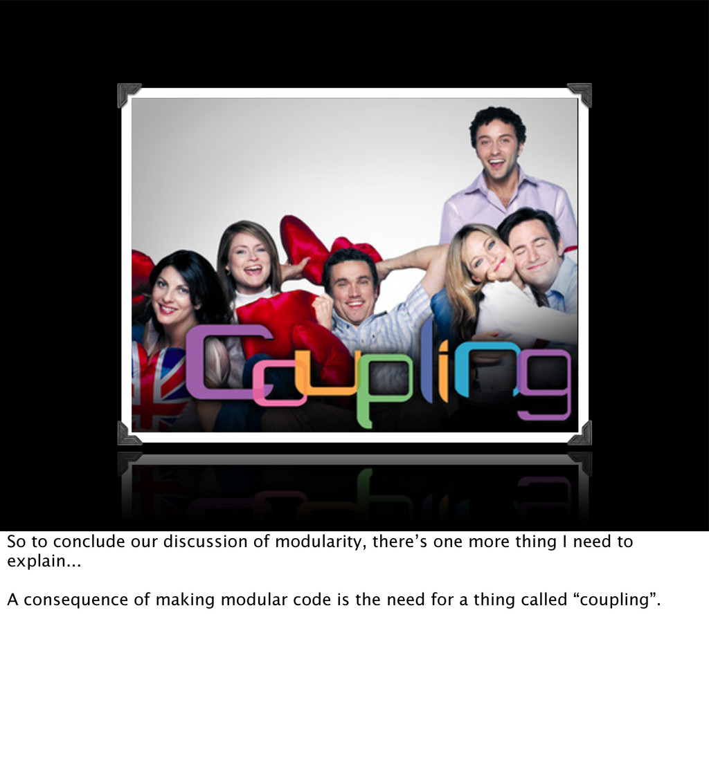 So to conclude our discussion of modularity, th...