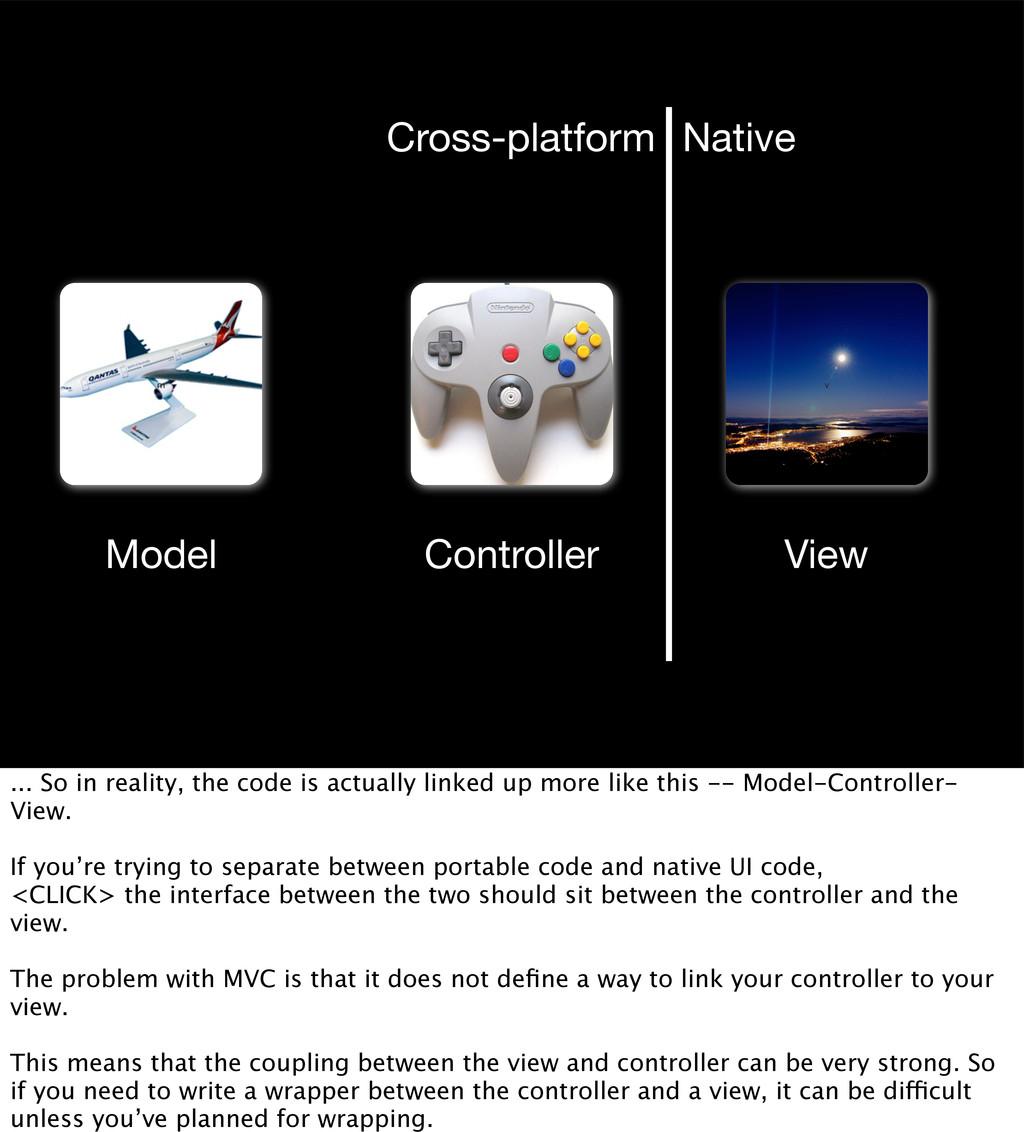 v Model View Controller m c Cross-platform Nati...