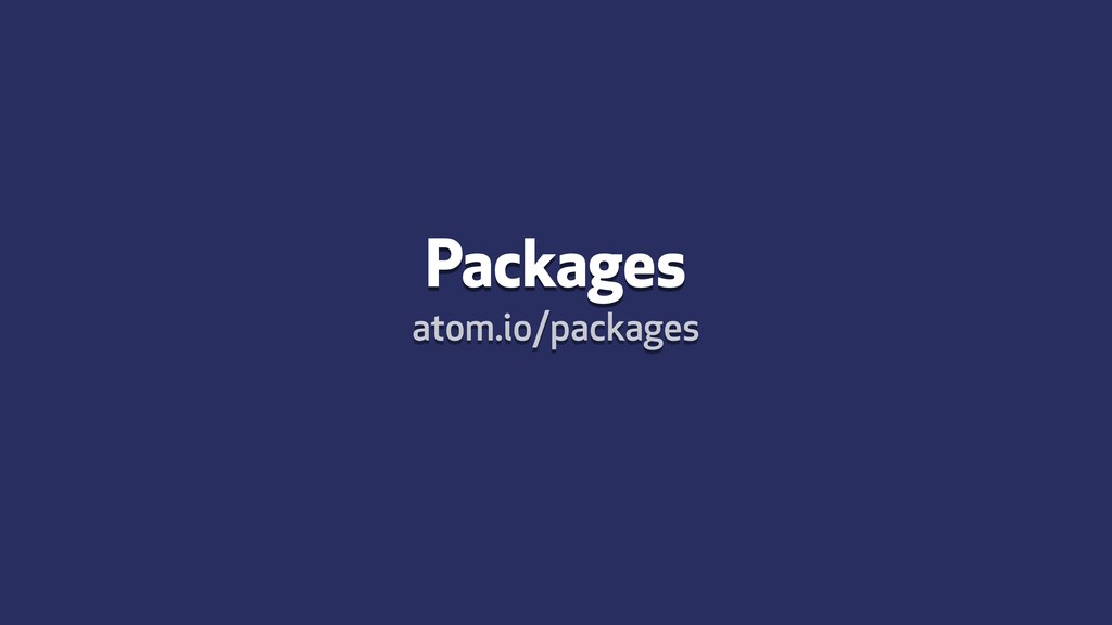 Packages atom.io/packages