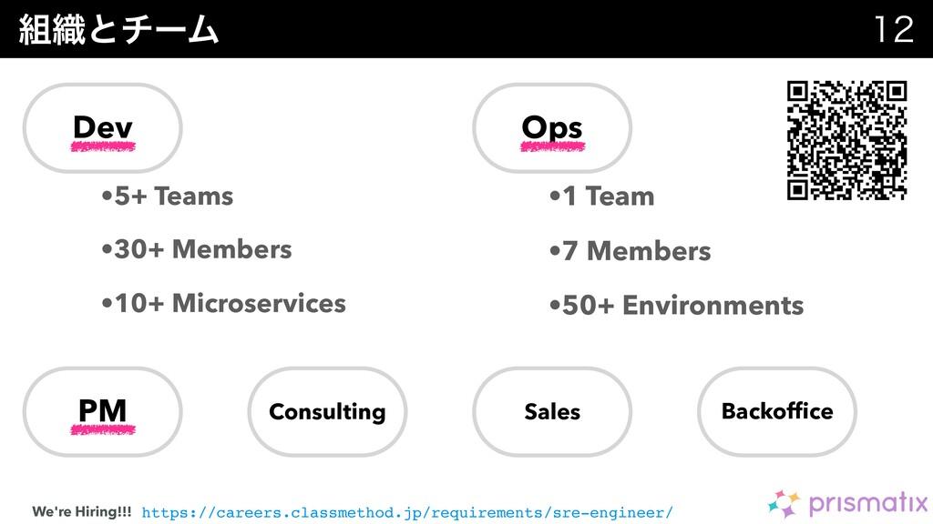 ৫ͱνʔϜ  •5+ Teams •30+ Members •10+ Microserv...
