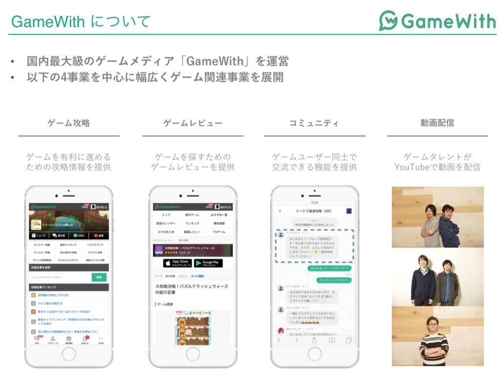 GameWith ʹ͍ͭͯ