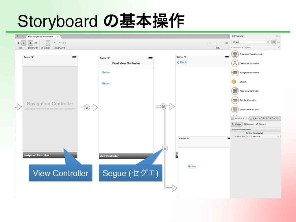 Storyboard ͷجຊૢ࡞ View Controller Segue (ηάΤ)