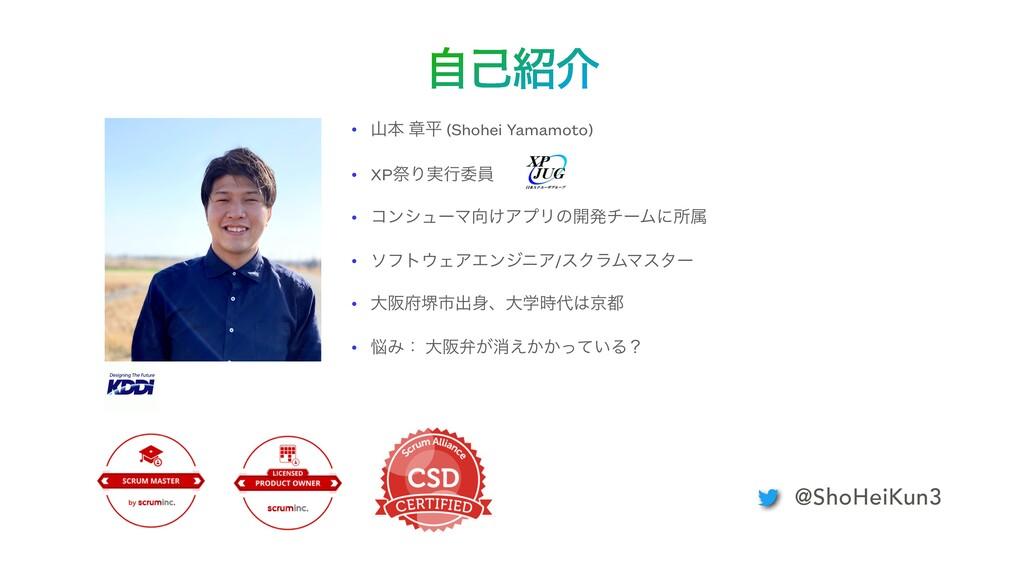 ࣗݾհ • ຊ ষฏ (Shohei Yamamoto)   • XPࡇΓ࣮ߦҕһ   •...